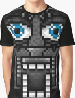 Five Nights at Freddy's 1 - Pixel art - Endoskeleton - Blue Graphic T-Shirt