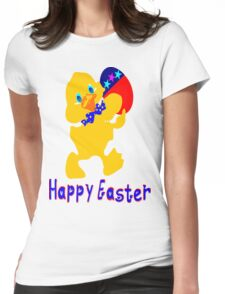 ㋡♥♫Happy Easter  Blue Eyed Chicken Clothing & Stickers♪♥㋡ Womens Fitted T-Shirt
