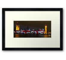 Parliament projection UNION JACK Framed Print