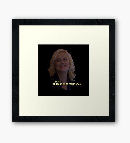 Leslie NOPE Framed Print