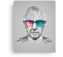 Albert Hofmann - Psychedelic Polygon Crystalised Portrait Canvas Print
