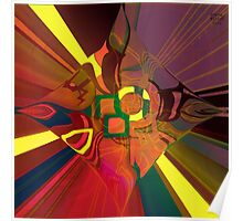 Abstract Light patterns Poster