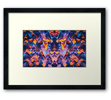 Abstract Surreal Chaos theory in Modern Blue / Orange Framed Print