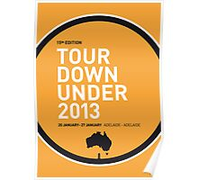 MY TOUR DOWN UNDER MINIMAL POSTER Poster