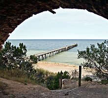 Wool Bay Jetty SA by Fred  Smith
