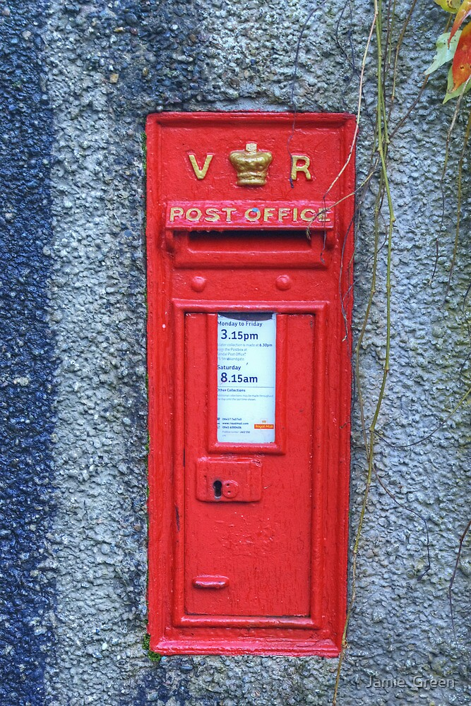 Victoria Regina Postbox by Jamie  Green