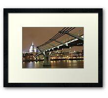 St Pauls / Millenium Bridge, London Framed Print