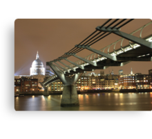 St Pauls / Millenium Bridge, London Canvas Print