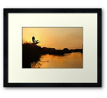 SUNSET IN SOUTH AFRICA Framed Print