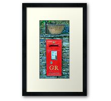George V Postbox Framed Print