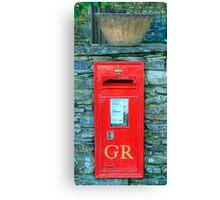 George V Postbox Canvas Print