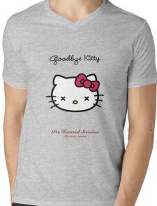 Goodbye Kitty Mens V-Neck T-Shirt