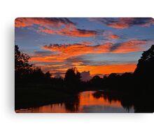 Bellinger River Sunset. Canvas Print