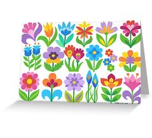 18 FANTASY FLOWERS Greeting Card