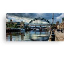Along The Quayside Canvas Print