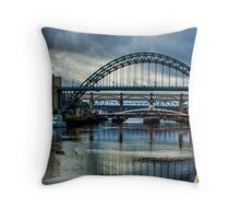 Along The Quayside Throw Pillow