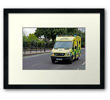 Emergency Ambulance Framed Print