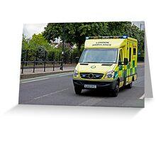 Emergency Ambulance Greeting Card