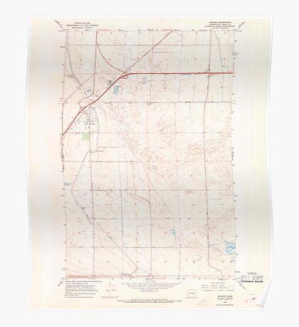USGS Topo Map Washington State WA George 241256 1966 24000 Poster