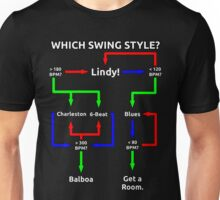 Swing Dance Flowchart Unisex T-Shirt