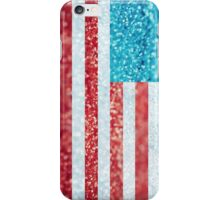 Red, White, and Glitter iPhone Case/Skin