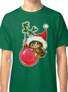 Cute Christmas Kitten  Classic T-Shirt