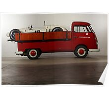 "VW T1 Bus PickUp ""Renntransporter"" 1964 Poster"