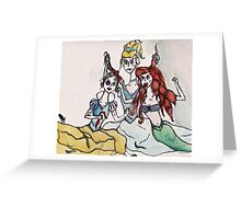 disney princess cat fight Greeting Card