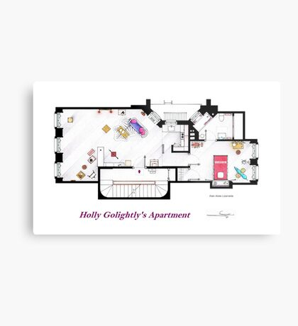 Breakfast at Tiffany's Apartment Floorplan Metal Print