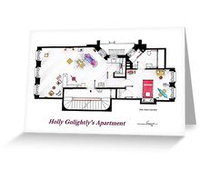 Breakfast at Tiffany's Apartment Floorplan Greeting Card