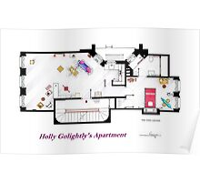 Breakfast at Tiffany's Apartment Floorplan Poster