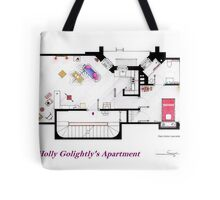 Breakfast at Tiffany's Apartment Floorplan Tote Bag