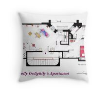 Breakfast at Tiffany's Apartment Floorplan Throw Pillow