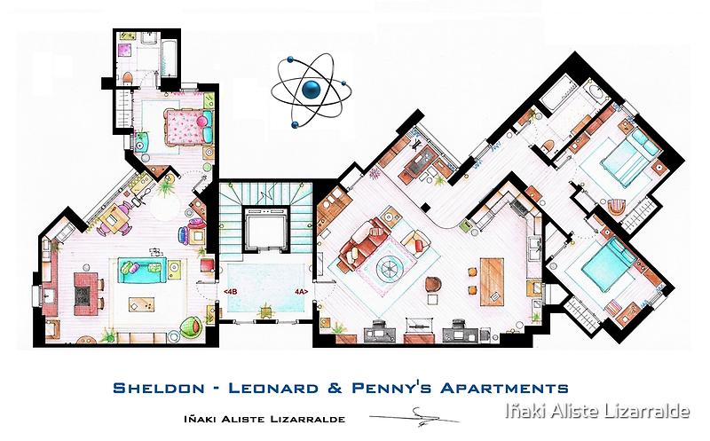 The Big Bang Theory Apartment by Iñaki Aliste Lizarralde