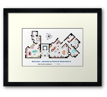 The Big Bang Theory Apartment Framed Print