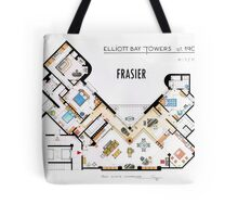 Frasier Apartment Floorplan Tote Bag