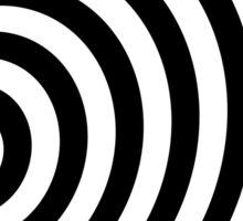 Modern Black & White Geometric Optical Illusion Sticker