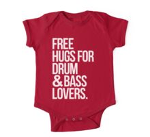 Free Hugs For Drum & Bass Lovers. One Piece - Short Sleeve