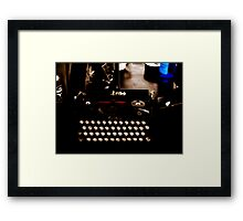 Writing Back to the German Forties  Framed Print