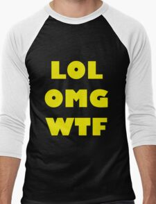 LOL OMG WTF 6 Men's Baseball ¾ T-Shirt