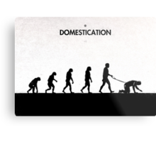 99 Steps of Progress - Domestication Metal Print