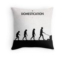 99 Steps of Progress - Domestication Throw Pillow