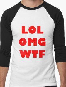 LOL OMG WTF 8 Men's Baseball ¾ T-Shirt