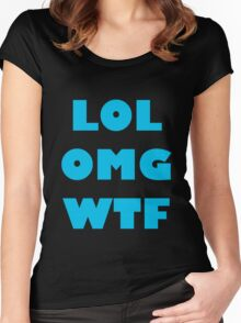 LOL OMG WTF 9 Women's Fitted Scoop T-Shirt