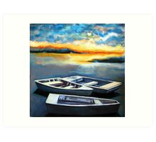 Skiffs at Sunrise on Shipping Creek Art Print