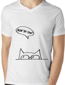 Meow You Doin? Mens V-Neck T-Shirt