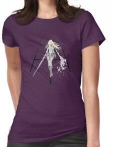 Teresa of the Faint Smile splatter paint Womens Fitted T-Shirt