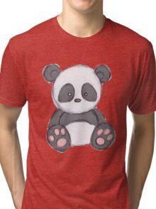 Cute Panda Drawing  Tri-blend T-Shirt