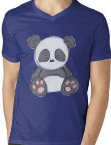 Cute Panda Drawing  Mens V-Neck T-Shirt