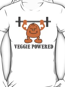 "Vegetarian ""Veggie Powered"" T-Shirt T-Shirt"